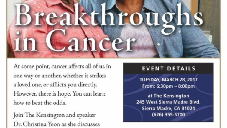 Kensington: Breakthroughs in Cancer seminar