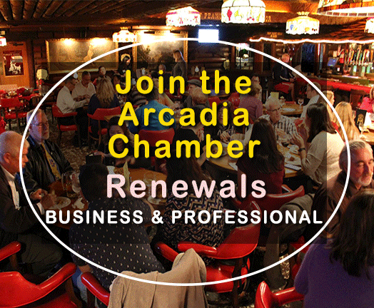 Arcadia Chamber Membership Renewal for Business and Professional