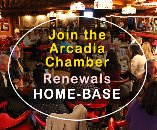 Arcadia Chamber Membership Renewal for Home-Base Businesses