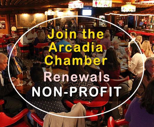 Arcadia Chamber Membership Renewal for Non-Profit