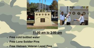 Anniversary gathering for Arcadia Vet War Monument