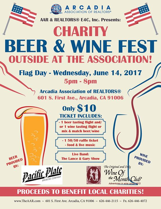 The AAR charity beer and wine fest