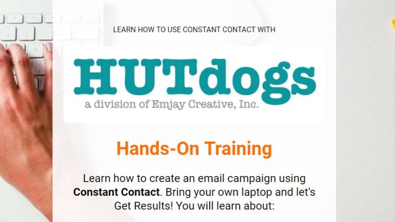 HUTdogs Constant Contact Hands-On Training