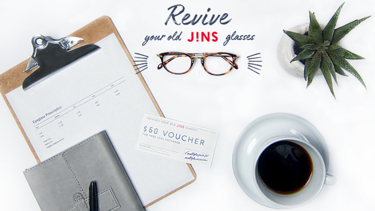 Revive your old glasses at JINS