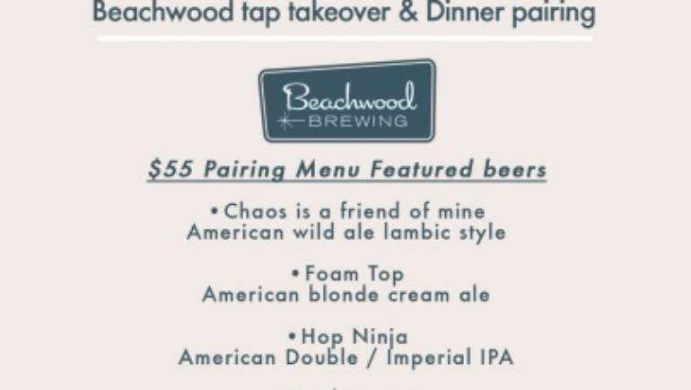 Beachwood tap takeover and Dinner pairing at Monkey Bar