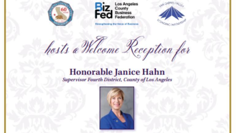 Rose Hills welcome reception for Supervisor Janice Hahn