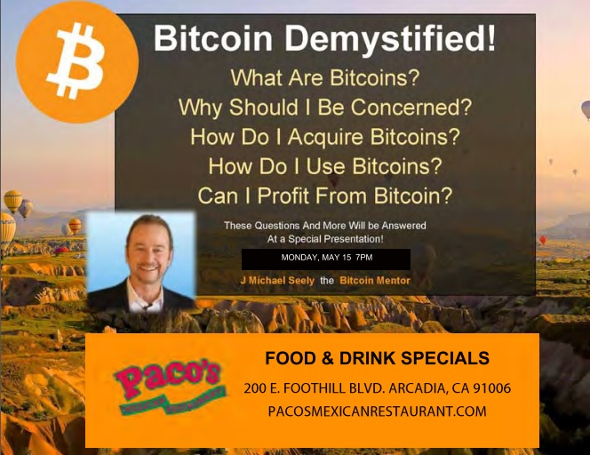 Bitcoin Demystified at Paco's