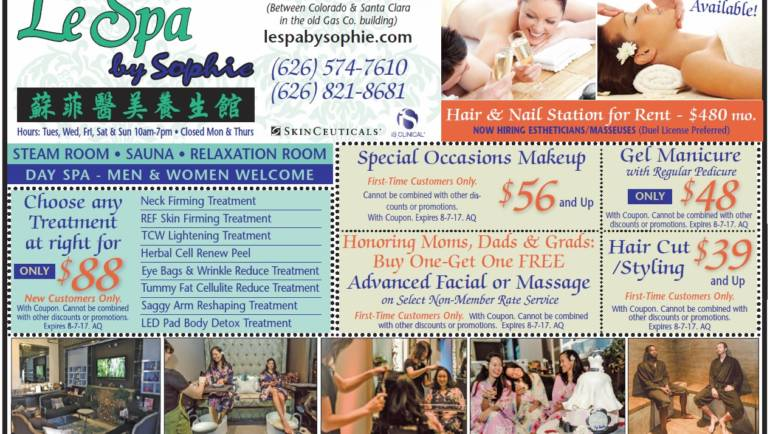 Mother's Day specials at Le Spa by Sophie