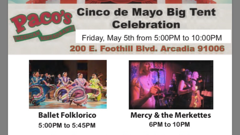 Celebrate Cinco de Mayo at Paco's