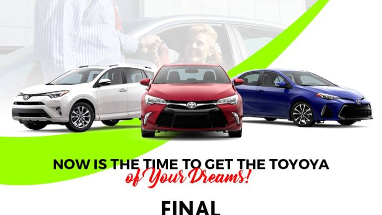 Longo Toyota is having the World's Largest Sale!