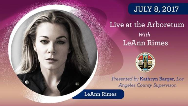 Lee Ann Rimes at the Arboretum
