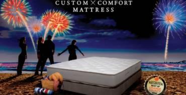 4th of July mattress event at Custom Comfort