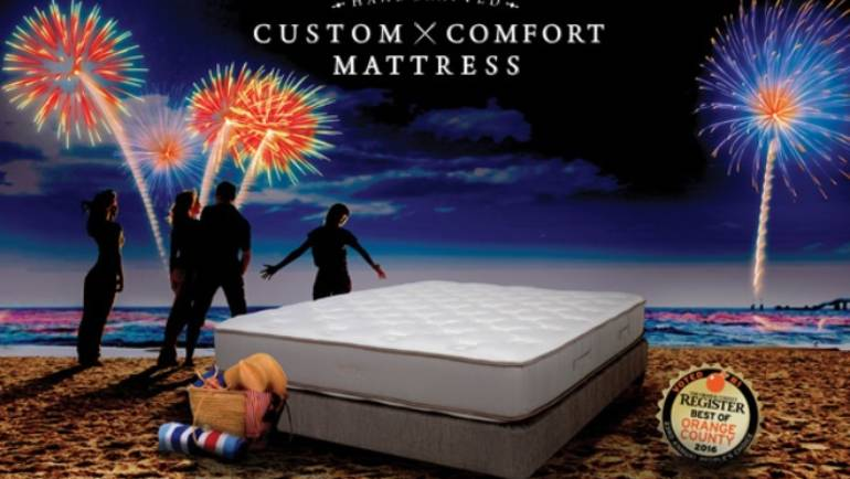 4th of July mattress event at Custom Comfort