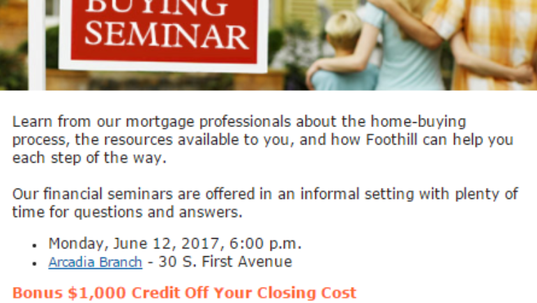 Foothill Credit Union Home Buying Seminar