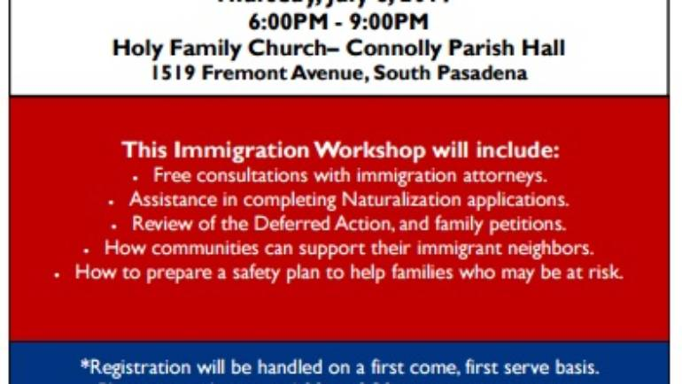 Judy Chu Immigration Workshop