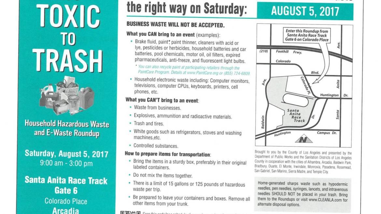Reminder: E-Waste and Hazardous Waste event this Saturday