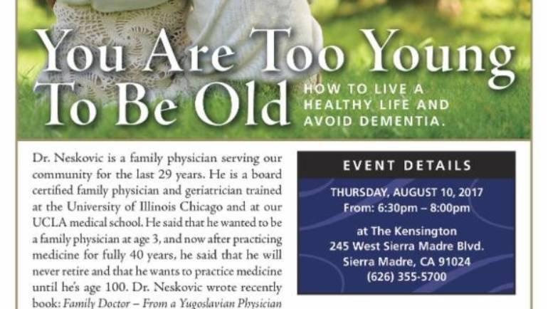 The Kensington: You are too Young to be Old