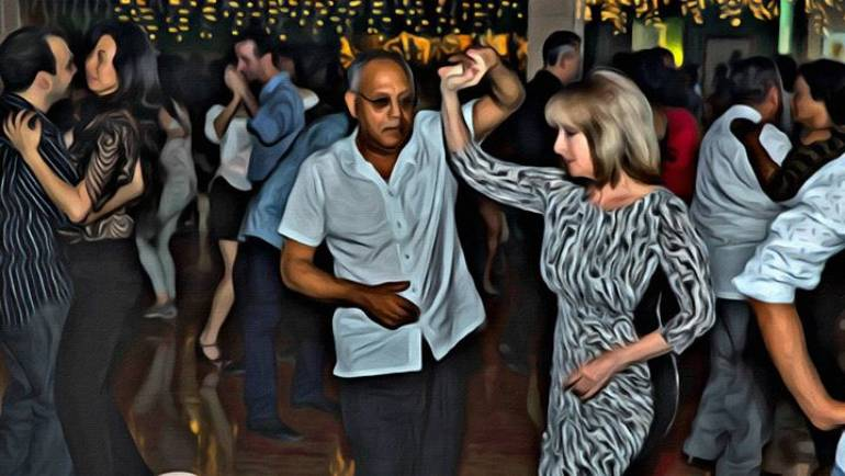 Salsa social at Sonata Room