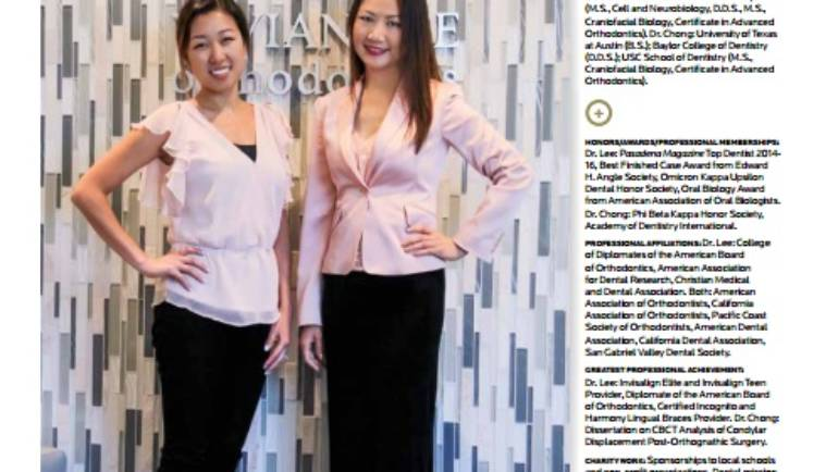 Vivian Lee Ortho – Dentists to Know in Pasadena Magazine