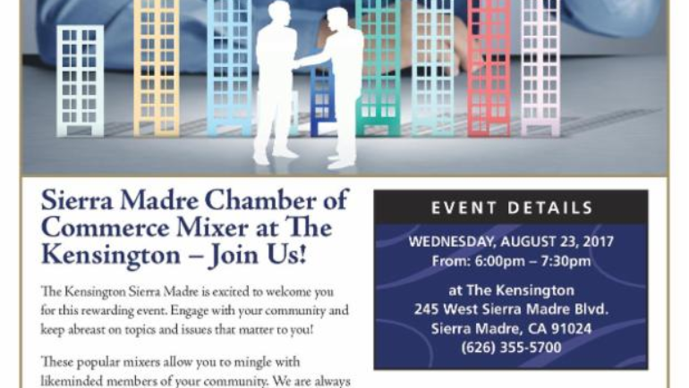 The Kensington: Sierra Madre Chamber mixer