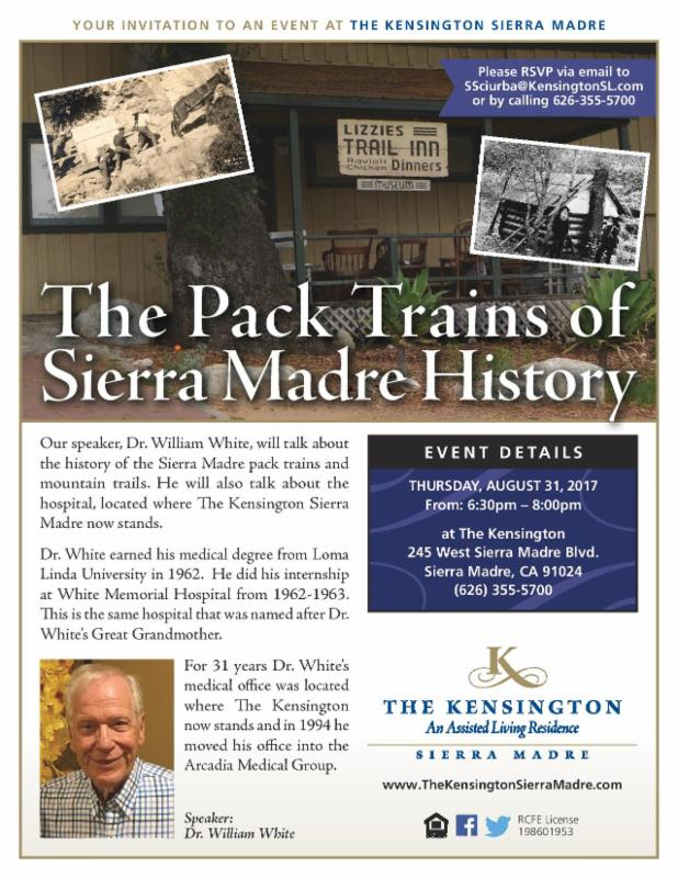 The Kensington: Pack Trains of Sierra Madre history