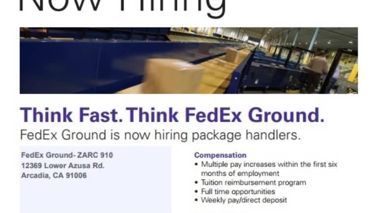 FedEx is hiring
