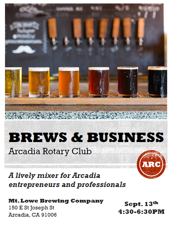 Brews and Business with the Arcadia Rotary Club