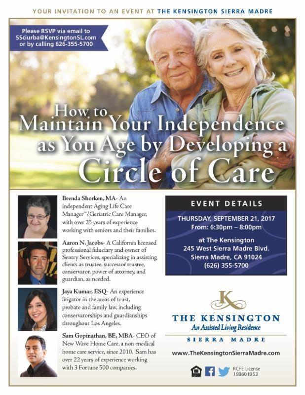 The Kensington: How to Maintain your Independence