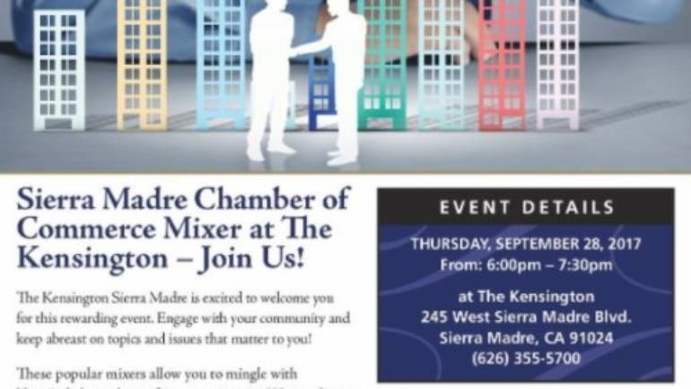 Kensington hosts Sierra Madre Mixer