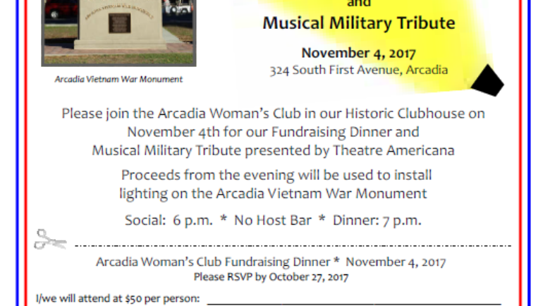 Shine A Light on Veterans by the Arcadia Women's Club