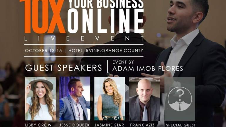 Join Adam imob Flores for a live online event