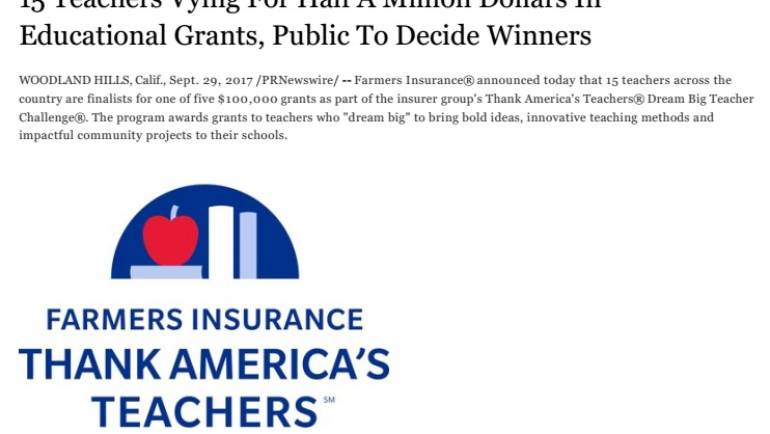 Help a Bosco Tech teacher win a grant!