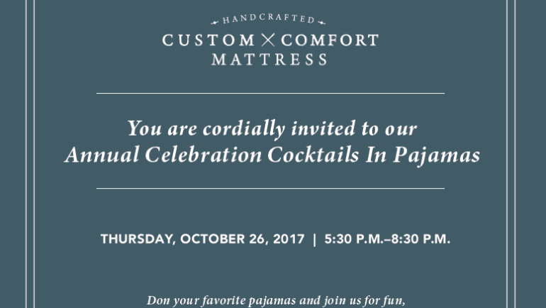 Cocktails in PJs at Custom Comfort MIX