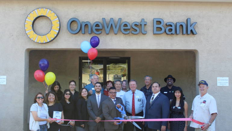 Ribbon Cutting at OneWest Bank's Arcadia branch