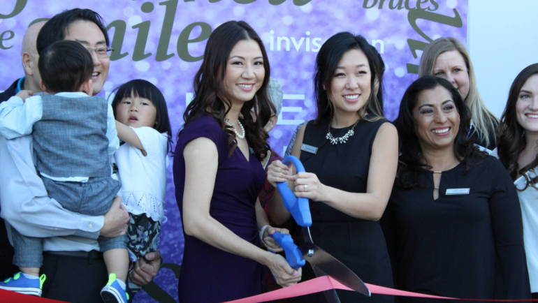 Cutting the Ribbon for Vivian Lee Ortho