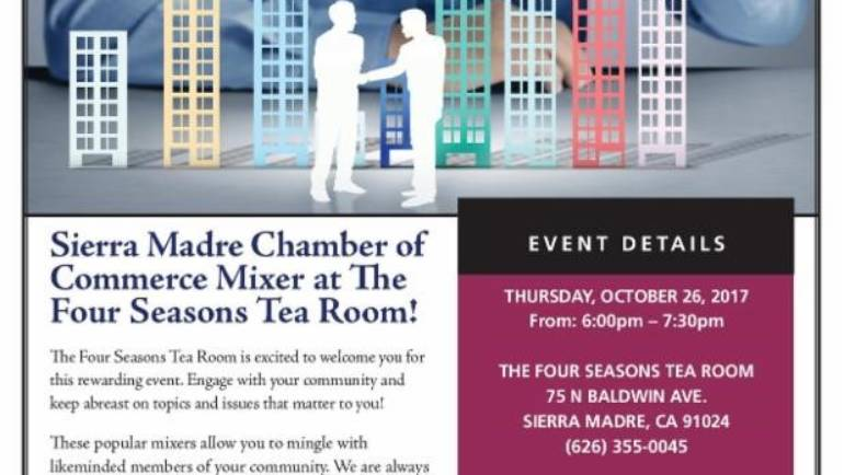 Four Seasons Tea Room hosts Sierra Madre Chamber