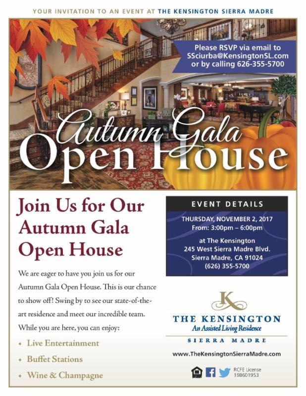The Kensington; Autumn Gala Open House