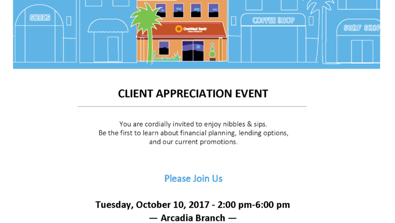 OneWest Bank Client Appreciation Event