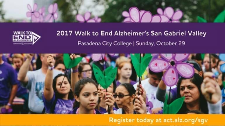 Walk to End Alzheimer's San Gabriel Valley