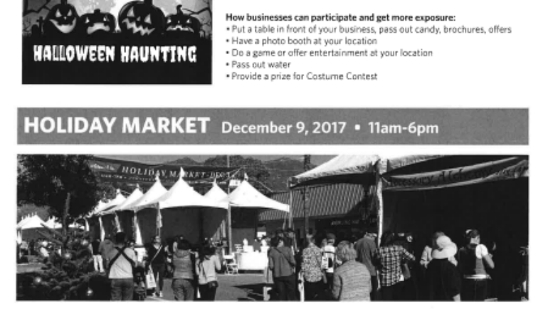 Downtown Arcadia: Halloween and Holiday events