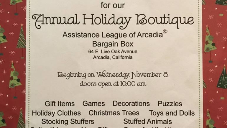 Assistance League Bargain Box Holiday Boutique ends Saturday