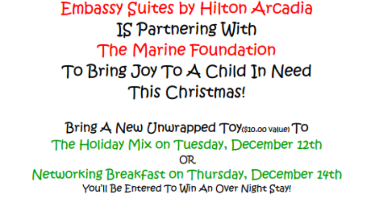 Donate to Toys for Tots at Embassy Suites