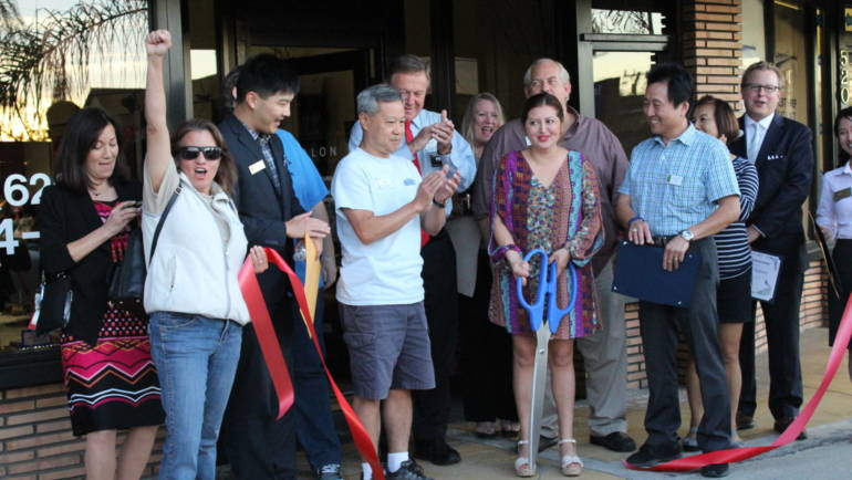 Cutting the Ribbon at Studio 518 Salon