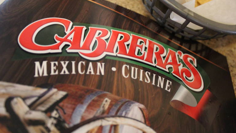 Only the finest in Mexican food at Cabrera's Love Lunch