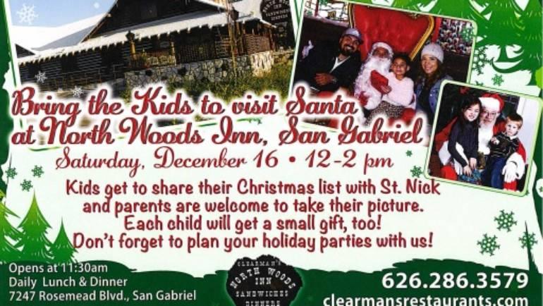 See Santa at Clearman's North Woods Inn