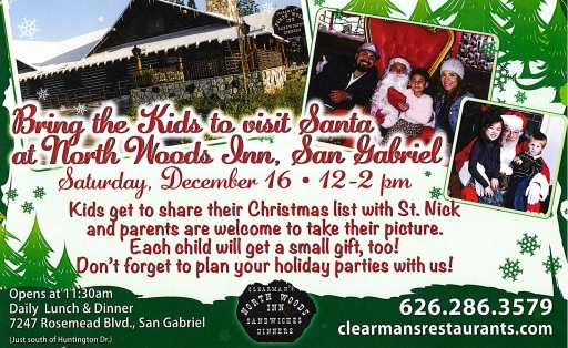 See Santa at Clearman's North Woods Inn