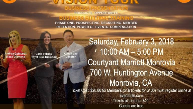 Javita 2018 Vision Tour Business Presentation