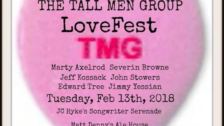 Tall Men Group Love Fest at Matt Denny's