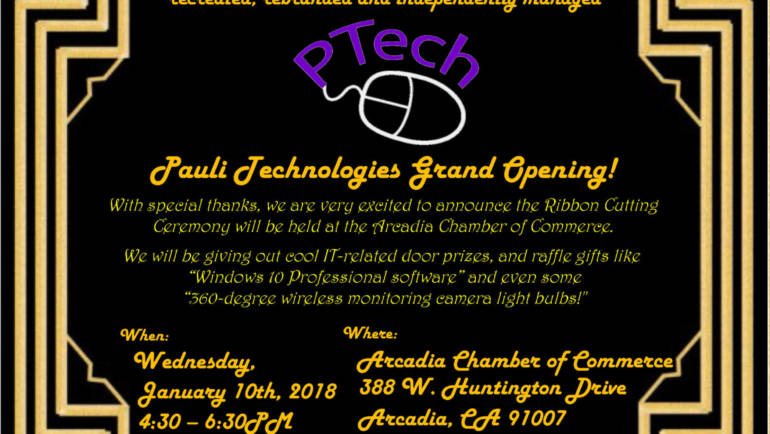Reminder: P Tech ribbon cutting Weds, January 10th