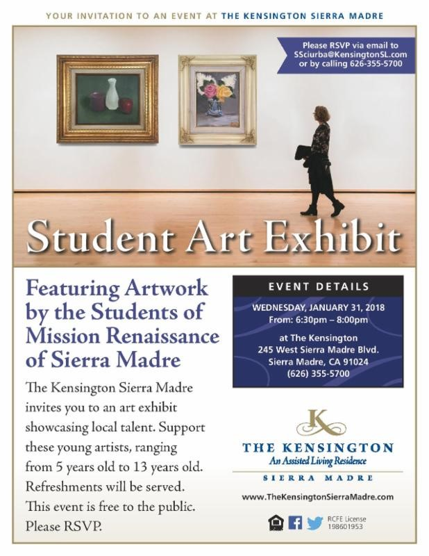 The Kensington: Student Art Exhibit